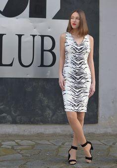 2ef49290498e DRESSES : Animal Print White Dress   STYLATI White Dress, Fashion Beauty