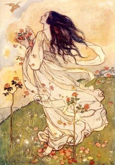 Emma Florence Harrison - Illustration to Christina Rossetti's poem A Birthda
