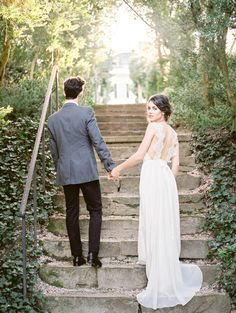 Lace strap wedding gown: http://www.stylemepretty.com/virginia-weddings/leesburg/2016/05/30/wine-crepes-and-lavender-all-things-french-live-in-this-provencal-wedding-inspiration/ | Photography:Alicia Lacey Photography - http://alicialaceyphotography.com/