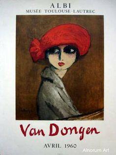 Le Coquelicot, het rode hoedje, of The Corn Poppy. In de collectie van: Alnorum Art | Specialist in originele grafiek, Kees van Dongen, kunsthandel, galerie