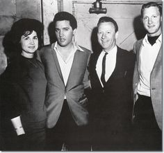 1966 3 28 Country Singer Kitty Wells with Elvis Presley, John Wright, (Kitty's husband), and their son.