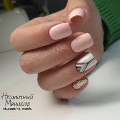 What Christmas manicure to choose for a festive mood - My Nails Perfect Nails, Gorgeous Nails, Pretty Nails, Fancy Nails, Love Nails, My Nails, Color Nails, Pink Nails, Nail Design Glitter