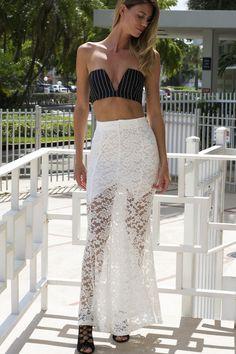 Dressy Fully Lace Maxi Skirt