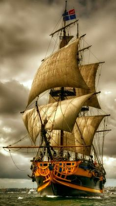 Sailing Ship Digital Art - Queen of the Sea by Mario Carini Ship Tattoo Sleeves, Tall Ships Festival, Pirate Art, Pirate Ships, Pirate Crafts, Old Sailing Ships, Ship Drawing, Ship Paintings, Boat Art