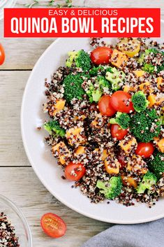 Created a tasty quinoa bowl is easy and fast. You just need quinoa and a few of your favorite ingredients to make a tasty breakfast, lunch or dinner. #QuinoaBowl #QuinoaRecipes