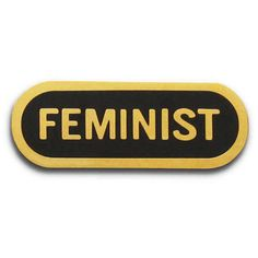 Feminist Enamel Lapel Pin (33 PEN) ❤ liked on Polyvore featuring jewelry, brooches, pin jewelry, pin brooch, enamel brooches and enamel jewelry