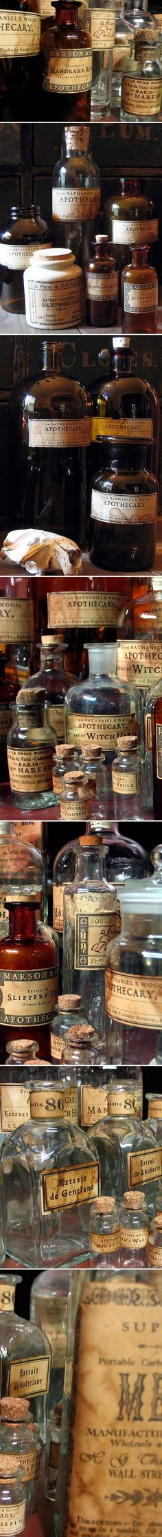 xx..tracy porter..poetic wanderlust...- old apothecary bottle  #apothecary #apothecarybottle