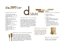 Onderwijs : Letter van de week Nice Handwriting, Letter Of The Week, Letter D, Learning The Alphabet, Writing Skills, Learn To Read, Ark, Education, Dyslexia