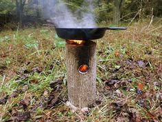 How To Make A One Log Rocket Stove - Genius - SHTF Preparedness