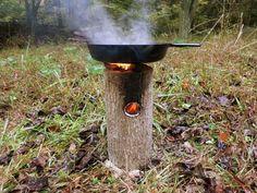 How To Make A One Log Rocket Stove - Genius - SHTF Preparedness