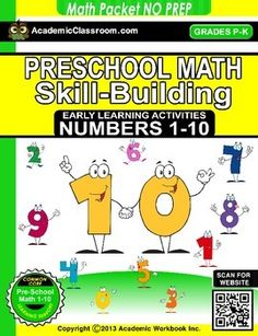 UPLOADED 1/25/15 4:58pmTHIS PRODUCT WILL BE ON SALE FOR $1 FOR 48 HOURS ONLY. GET IT WHILE YOU CAN!What you get in this Pre-K Math NO PREP PACK* 11 Pages. Number 0 - 10* Each page contains several skill building activities1. Name writing practice2. Number recognition by sight3.