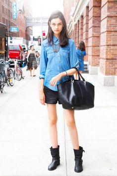 Isabella Mello Top: Maje Skirt: Derek Lam Bag: Christian Louboutin   Necklace: Aurélie Bidermann