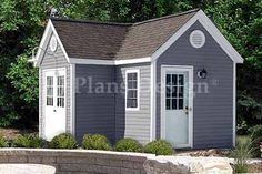 "Dual Garden Structure Storage Shed Plans #60712 | eBay      Roof Style : L Gable     Building Size:7'x12' L 7'x5     Sq. Ft : 119 Sq. Ft.     Height : 10""     Wall Height : 7'-6""  	      Roof Pitch : 7/12     Roof Span : 7'     Double Doors : 84"" x 82""     Side Door : 30"" x 82""     Foundation : Skid"