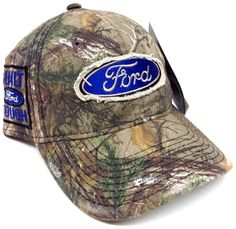 FORD PATCH MOSSY OAK CAMO HAT CAP CAMOUFLAGE HUNTING NASCAR RACING BUILT TOUGH in Clothing, Shoes & Accessories, Men's Accessories, Hats | eBay