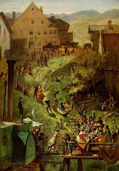 Carl Spitzweg Arrival in Seeshaupt, painting Authorized official website Old Paintings, Paintings I Love, Carl Spitzweg, Hieronymus Bosch, Train Art, Classic Image, Comic Pictures, Art Database, Art For Art Sake