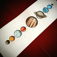 Encouraging your child with DIY solar system crafts, activities and decorations would be a great way to help them explore. With various grade and project on solar system for class here are some ideas. Tattoo Studio, Body Art Tattoos, New Tattoos, Tatoos, Solar System Painting, Solar System Crafts, Solar System Art, Planet Painting, Planet Drawing