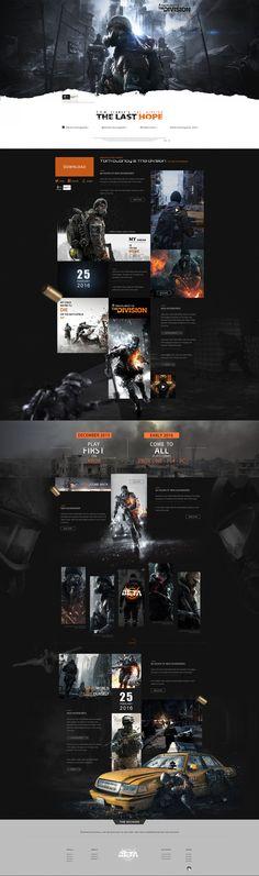 全境封锁网页设计|网页|游戏/娱乐|佳大大丶 - 原创作品 - 站酷 (ZCOOL)