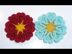 3D crochet flower No 11