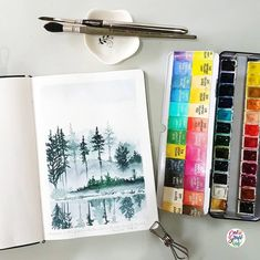 "3,039 Likes, 14 Comments - Calligrafikas by Drew Europeo (@calligrafikas) on Instagram: ""It's a gloomy Monday. #dreweuropeo #calligrafikas #grafikas #watercolor #painting…"""