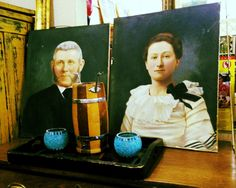 Instant Ancestors artist unknown by ThisandThatPackRat on Etsy, $75.00