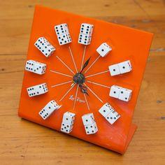 Vintage Las Vegas souvenir clock with dice hour markings - DIY one for Jerry