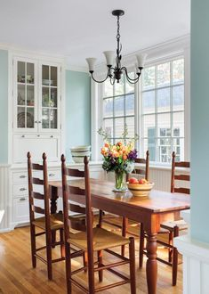 A Victorian Kitchen Makeover - Old House Journal Magazine Dining Area, Kitchen Dining, Dining Rooms, Kitchen Tables, Crown Point Cabinetry, Built In Buffet, House Journal, Built In Refrigerator, Victorian Kitchen