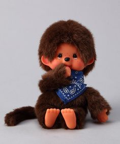 {Blue Bandanna Monchhichi} OMG. Talk about a blast from the past. I so had one of these. Did you? Feeling old...