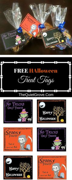 FREE Halloween Treat Tag Printable