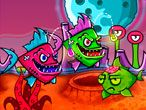 Fish and Destroy See however fast your reflexes are by attempting to survive during this distinctive surreal fish consumption game! Explore its mysterious wonders as long as you'll, however be cautions not go get cornered and killed by them. to possess the strength to travel more eat the sulky fishes. As they're attracted by your lightweight and use their bones as bullets to destroy enemies.