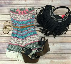 Feather Dressed Romper
