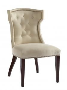 Quinn Chair by Lillian August (at Hickory White) - Overall: W23 D28 H38 in. (custom fabric avail)