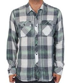"Quiksilver Men's ""Walker"" Long Sleeve Flannel Shirt Navy Plaid 109037-NVY"