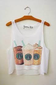 starbucks shirt 😍 uploaded by мιℓσυ ♡ on We Heart It Cropped Tank Top, Crop Tank, Crop Shirt, Cute Fashion, Teen Fashion, Junior Fashion, Style Fashion, Fashion Trends, Starbucks Shirt
