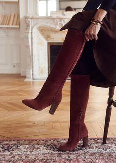 100% authentic 1670f 11d86 Sézane - Lexie dress Bottes Sezane, Sezane Chaussures, Sandales, Bottes  Femme, Sezane