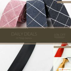 Today Only! 10% OFF this item.  Follow us on Pinterest to be the first to see our exciting Daily Deals. Today's Product: Plaid Business Necktie Buy now: http://www.allthingsexpress.com/products/plaid-business-necktie?utm_source=Pinterest&utm_medium=Orangetwig_Marketing&utm_campaign=Untitled%20Daily%20Deal%2028th%20April #musthave #loveit #instacool #shop #shopping #onlineshopping #instashop #instagood #instafollow #photooftheday #picoftheday #love #OTstores #smallbiz #sale #dailydeal…