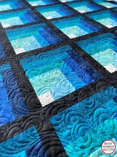 Waterfall Quilt Pattern PDF Two Color Ombre Gradating   Etsy Log Cabin Quilt Pattern, Patchwork Quilt Patterns, Batik Quilts, Log Cabin Quilts, Blue Quilts, Beginner Quilt Patterns, Quilt Patterns Free, Patchwork Bags, Log Cabin Patchwork