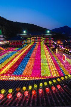 Samkwangsa Temple, South Korea I might go to Korea!! I hope! I wanna go and see the wonders.