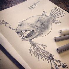 Deep Sea Anglers by Jared Muralt, via Behance