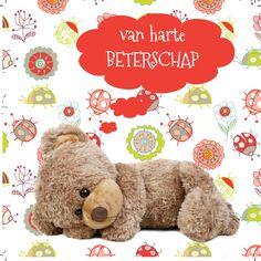 Design: Fastcards www.fastcards.nl - van harte beterschap beertje