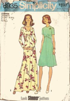 simplicity 6935 | Simplicity 6935 - Vintage Sewing Patterns