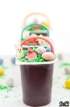 Easter Basket Pudding Cups - Cook With Manali