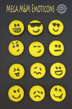 Mega M&M Emoticons - Kids Activities Blog