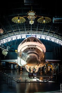 Discovery Space Shuttle at National Air & Space Museum's Udvar-Hazy annex near Dulles International Airport, VA.