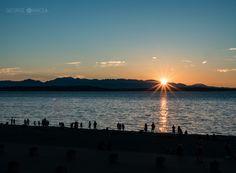 Alki sunset by George Oancea on 500px