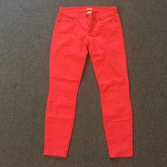 J. Crew Corduroys Bright pink, skinny leg, patch pockets, corduroys, only worn twice J. Crew Pants Skinny