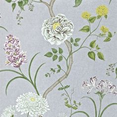 Collection: A Painter's Garden (W)   Design name: Summer Tree  Colour: Steel/Ivory