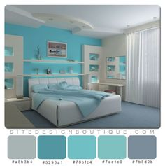 Blue Room Color Scheme - Website Design Boutique