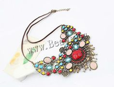 Resin #Necklace, #jewelry  http://www.beads.us/product/Resin-Necklace_p121379.html?Utm_rid=219754