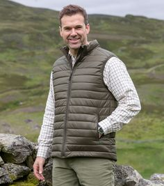 NEW Hoggs Of Fife Rover Quilted /& Padded Warm Body Warmer Gilet Waistcoat