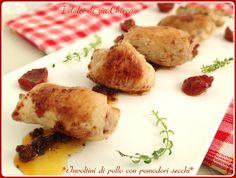 Involtini di pollo con pomodori secchi